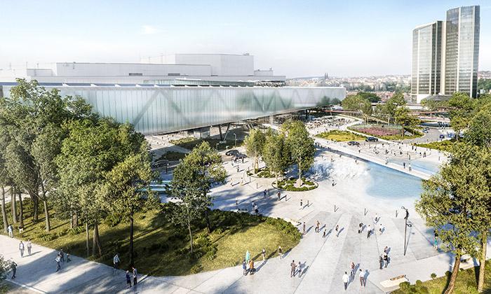 Vítězný návrh na výstavní halu Kongresového centra v Praze od OCA