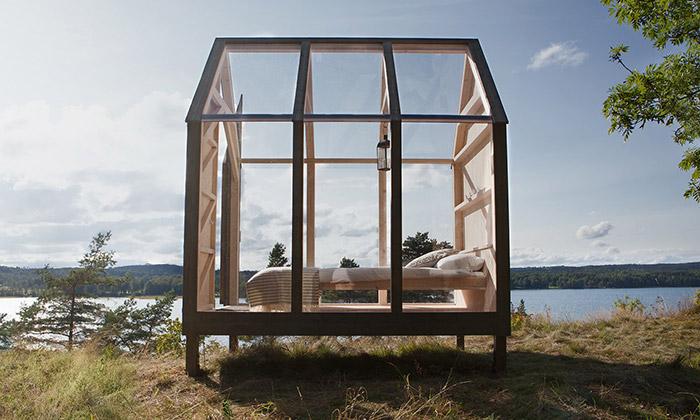 Ve Švédsku postavili chatky kbydlení na72 hodin