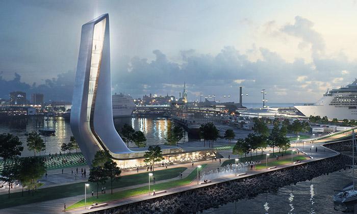 Zaha Hadid Architects postaví Tallinnu přístavní čtvrť