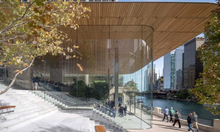 Foster vChicagu postavil Apple Store sestřechou vetvaru MacBooku