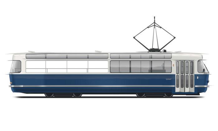 Anna Marešová navrhla pro Prahu výletní tramvaj T3 Coupé