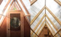 Lesní chata Bird Hut od Studia North v Kanadě