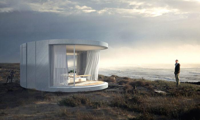 LumiShell jeprefabrikované obydlí pro luxusní relaxaci vpřírodě