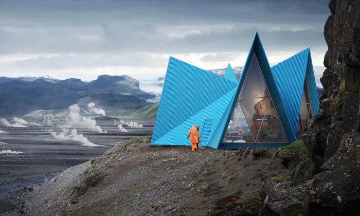 Švédi navrhli pro Island turistické přístřešky Skýli stvarem stanu
