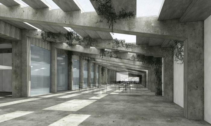 Mladá architektka navrhla proměnit Stadion Strahov nabyty ahotel