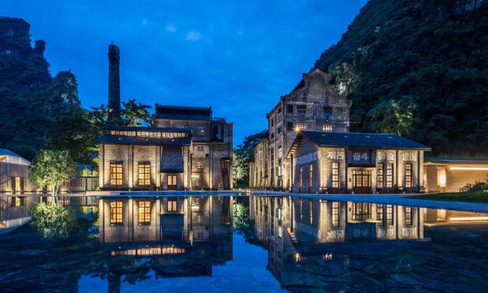 V Číně přestavěli starý cukrovar nastylový hotel Alila Yangshuo