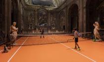Tenisový kurt Asada Razy v milánském kostele San Paolo Converso