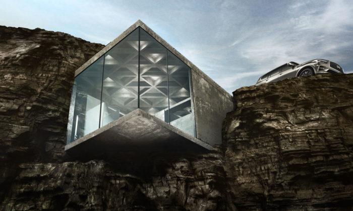 LAAV navrhli víkendový dům Maralah zapuštěný doskalního masivu