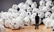 Ron Mueck ajeho instalace 100 lebek snázvem Mass