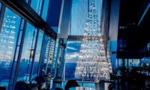 Vánoční strom vlondýnském mrakodrapu The Shard