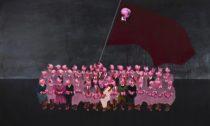 Daniel Pešta a aukýzka z výstavy DeTermination