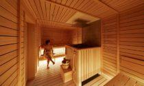 ℃ Ebisu sauna s kapslovým hotelem v Tokiu