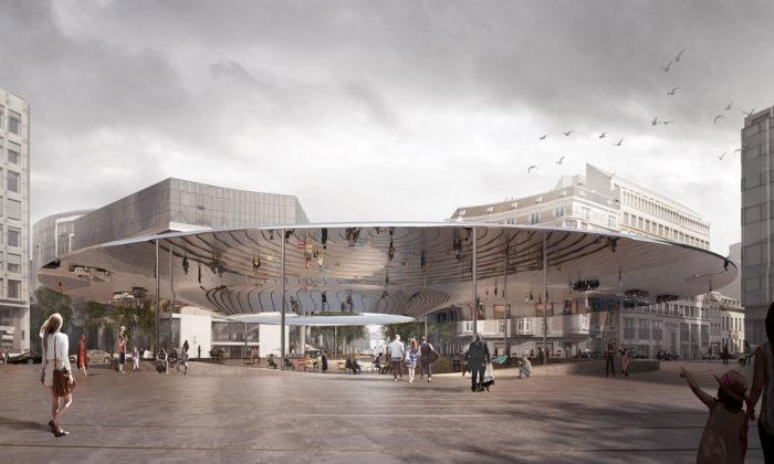 Cobe aBrut navrhli Bruselu novou vstupní bránu doEvropské unie