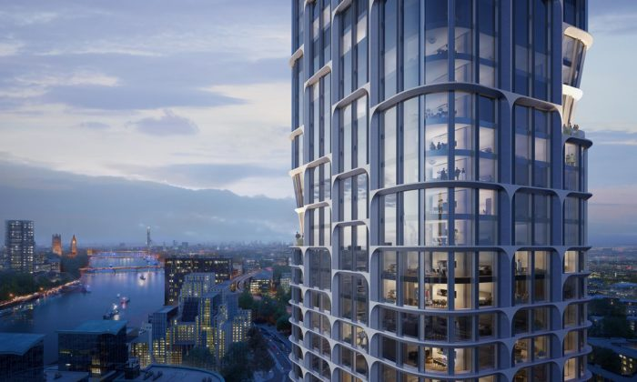 Londýn postaví dvě věže Vauxhall Cross Island podle návrhu Zahy Hadid
