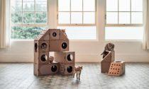Kartonový modulární nábytek A Cat Thing