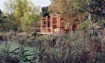 Francouzský ekologický hotel Cabanes des Grands Cépages