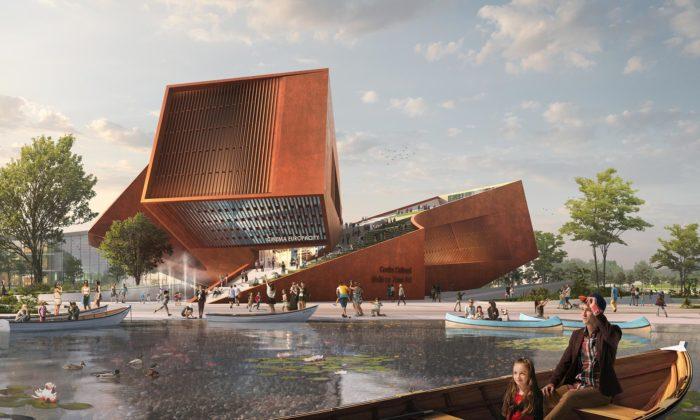 UNStudio navrhlo pro Paříž kulturní centrum sedvěma kiny nastřeše