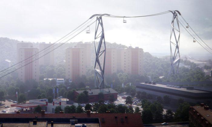 Švédský Göteborg si postaví městskou lanovku podle návrhu odUNStudio