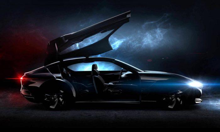 Pininfarina navrhla koncept kupé HK GT sdveřmi vetvaru racčích křídel