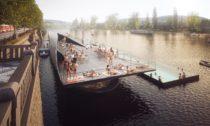 Plovoucí lázně v Praze pod Vyšehradem
