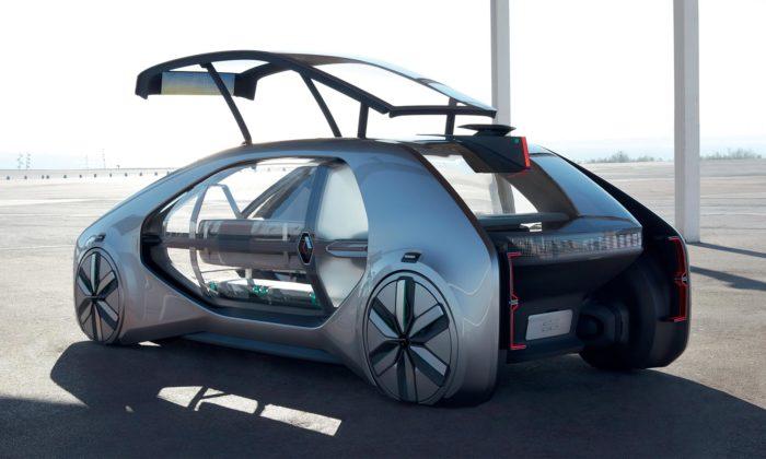 Renault EZ-GO jefuturistický koncept sdíleného asamořídícího auta doměsta