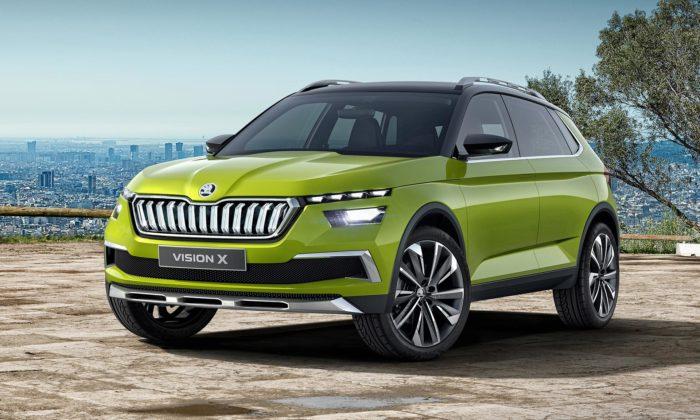 Škoda Vision X jestudie hybridně poháněného SUV skrystalickými prvky