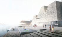 Kengo Kuma akoupaliště Waterfront Culture Center vKodani