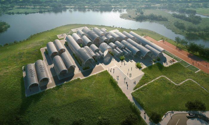 Zaha Hadid Architects postaví základní školu Lushan zdesítek tubusů