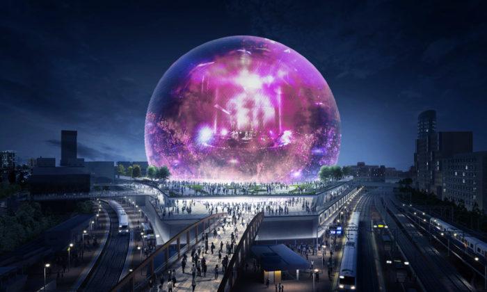 Londýn postaví skleněnou kouli speciálně navrženou pro koncerty akulturní akce
