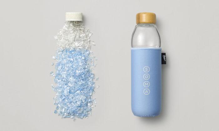 Soma vyrobila láhev navodu sobalem zodpadového plastu vyloveného zmoře