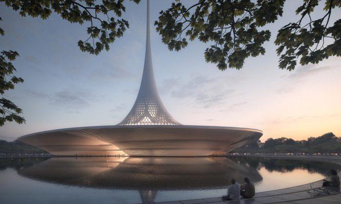 Norman Foster navrhl urbanistický plán anové budovy pro indické Amaravati