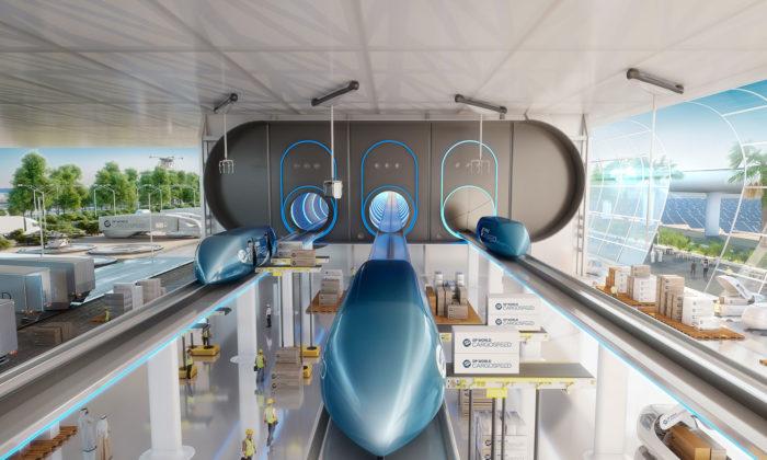 Foster + Partners ukázali budoucnost nákladní dopravy spomocí Hyperloop One
