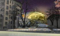 Přístavba Muzea skla abižuterie vJablonci nad Nisou vetvaru skleněného krystalu
