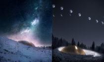 Nové planetárium Solobservatoriet v norském Harestua od ateliéru Snøhetta