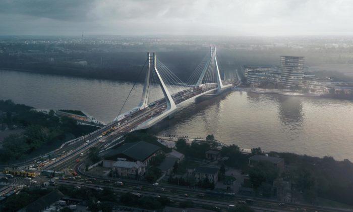 UNStudio postaví vBudapešti přes Dunaj nový most pro dopravu ipěší