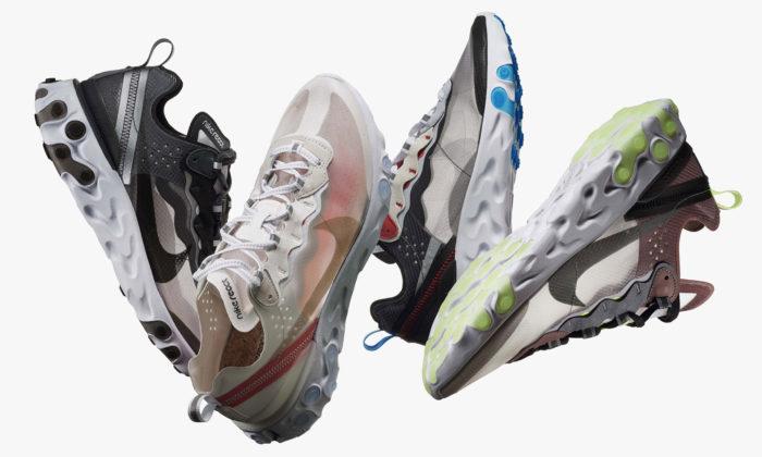 Nike představuje tenisky React Element 87 odkazující senadesign z80.let