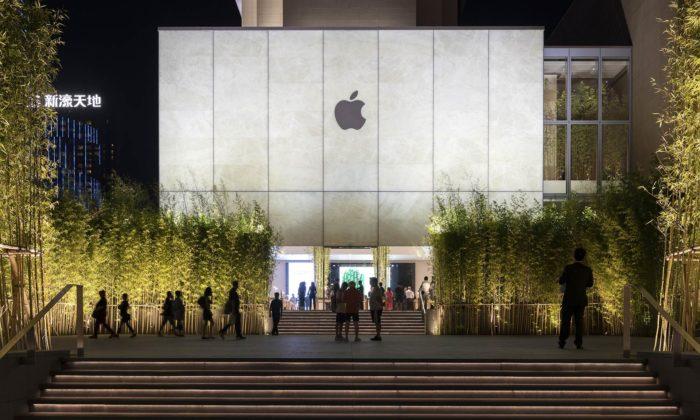 Foster postavil vMacau nový Apple Store sfasádou ze zářícího kamene