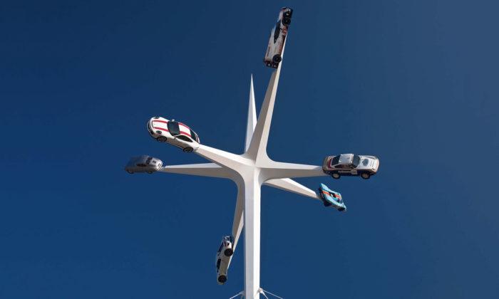 Gerry Judah vytvořil sochu hvězdy kvýročí 70 let automobilky Porsche