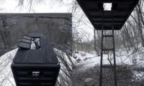 Černý létající dům od H3T Architekti