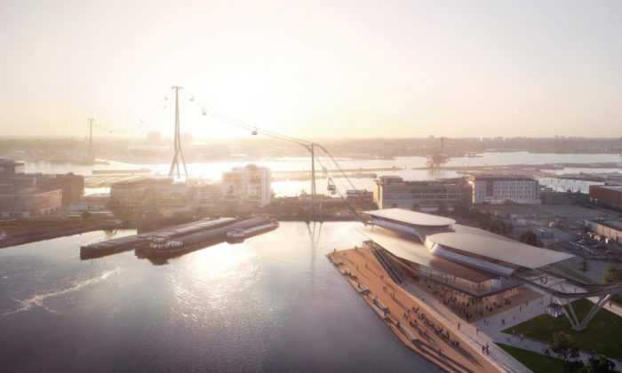Amsterdam si postaví městskou lanovku podle návrhu odUNStudio