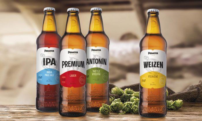 Pivovar Primátor má nový design láhví a14 modernizovaných etiket