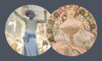 Alfons Mucha aukázka zvýstavy Dva světy vBrně