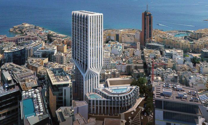 Na Maltě postaví obytnou věž Mercury Tower podle návrhu Zahy Hadid