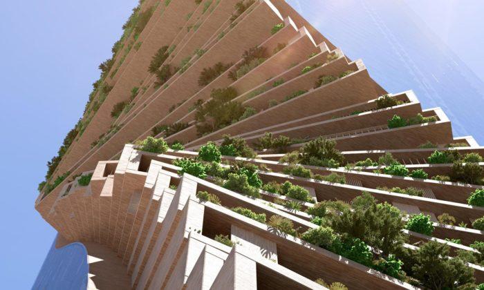 UNStudio postaví vMelbourne zkroucené věže Southbank by Beulah porostlé zelení