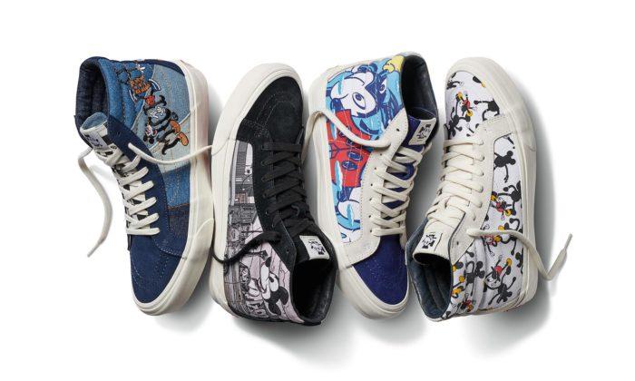 Mickey Mouse slaví 90.narozeniny kolekcí bot atriček Vans