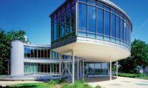 Budova Expo 58 slavící 60.výročí
