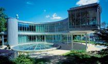 Budova Expo 58 slavící 60. výročí