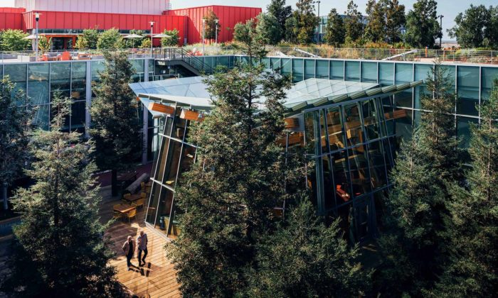 Facebook si postavil kanceláře slesem nastřeše podle návrhu Franka Gehryho