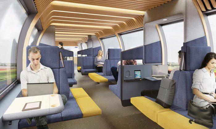 Mecanoo navrhlo modulární aflexibilní interiér vlaků brzké budoucnosti