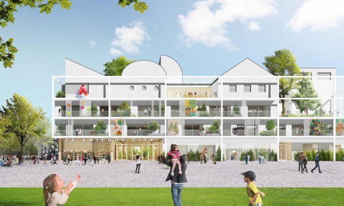 Na pražském Smíchově vyroste nová základní škola podle návrhu Office Ou & Inostudio